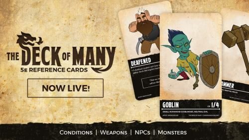 The Deck Of Many: DnD 5e Reference Cards