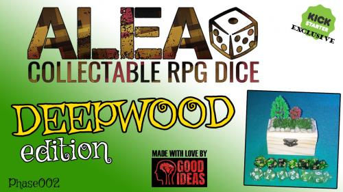 ALEA! Collectable RPG Dice: DEEPWOOD edition (Phase 02)