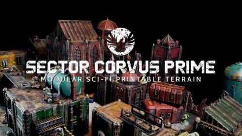 Sector Corvus Prime: Modular 3D Printable Sci-fi Terrain