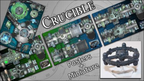 Crucible: Space Station Map Posters & Miniature