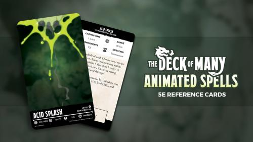 The Deck of Many Animated Spells: DnD 5E Spell Cards