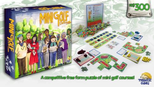 """Minigolf Designer"" Board Game"