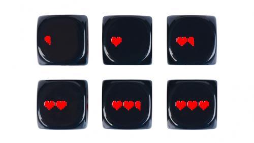 8-Bit Pixel Heart Dice