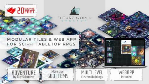 Future World Creator: Modular tiles for Sci-fi tabletop RPGs