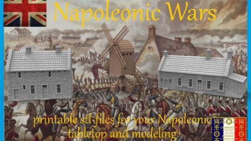 Napoleonic Wars, stl files for your printable terrain