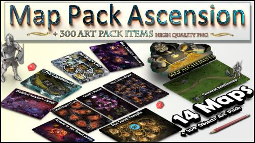 RPG Map Pack and Art Pack 14 Maps + 300+ arts :The Ascension