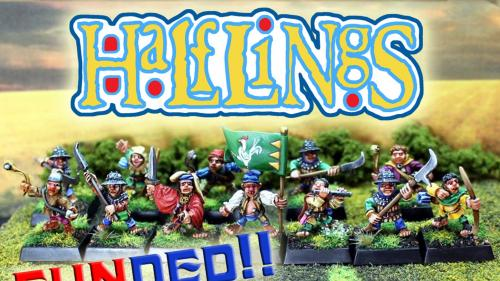 Classic Oldhammer Halfling Miniatures in True 28mm Scale