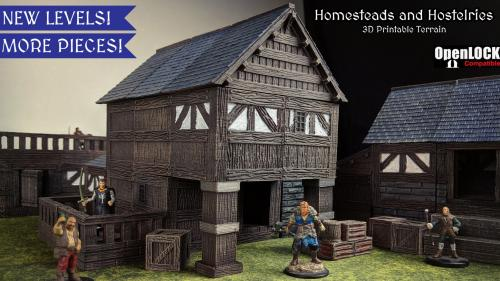 Homesteads and Hostelries 3D Printable Tile Set