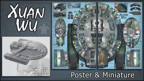 Xuan Wu: Starship Map & Miniature