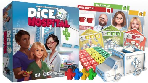 Dice Hospital - a 1-4 player game. Roll, Treat, Discharge!