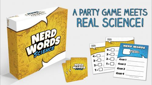 Nerd Words: Science   A Party Game Meets Real Science!
