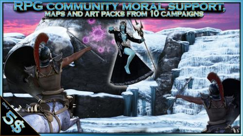 RPG community moral support, maps and art packs for 5$+