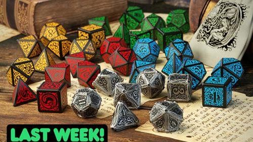 Call of Cthulhu Metal Dice Set by Q-workshop & Chaosium