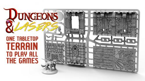 Dungeons & Lasers: Plastic Tabletop Scenery