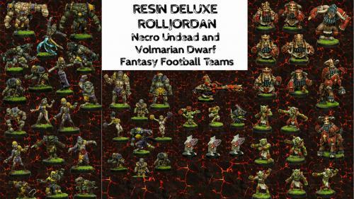 Resin Rolljordan Necro & Volmarian Dwarf Fantasy Football