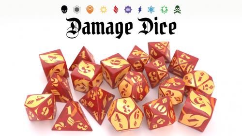 Damage Dice: roll with power for D&D 5e