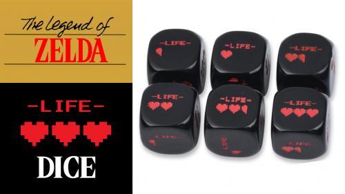 Legend of Zelda LIFE Hearts Dice