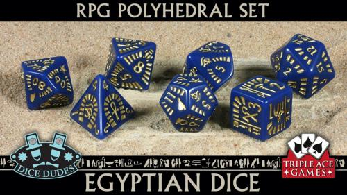 Polyhedral Dice Set: 7 Egyptian Dice