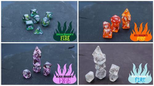 Dragon s Breath dice by Dakota Irish