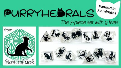Purryhedrals - Kitty Cat Polyhedral Dice