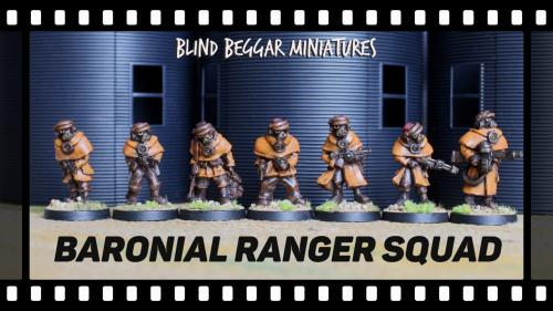 The Baronial Rangers PLUS! 28mm white metal miniatures.