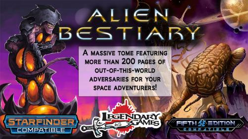 Alien Bestiary for Starfinder and 5E RPG