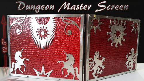 Game Master Screen, Player's wooden Book and RPG accessories