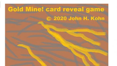Gold Mine! card reveal game (manufactured)