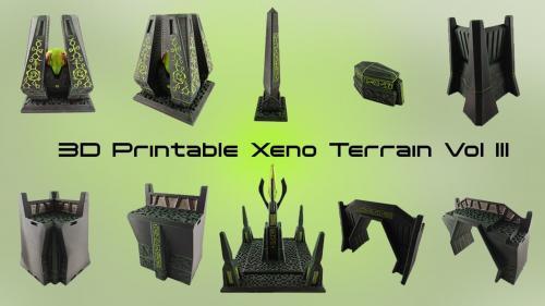 3D Printable Xeno Terrain Vol III