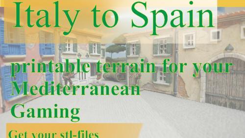Printable Tabletop Terrain for Italy / Spain