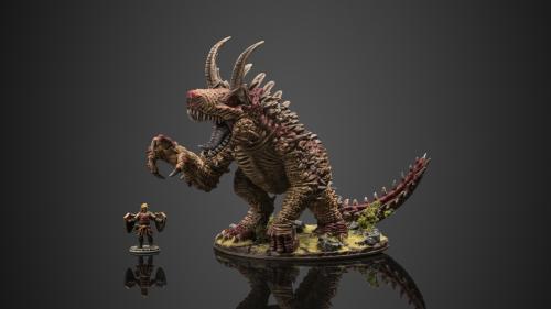 Gargantuan Tarrasque Monster Miniature by Critit.co.uk