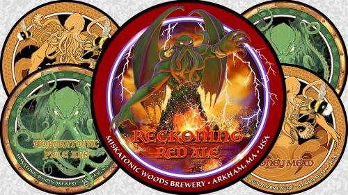 Cthulhu Art Drink Coaster 3: Reckoning Red Ale