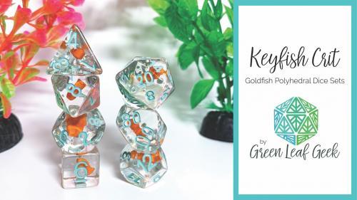 Keyfish Crit - Goldfish Polyhedral Dice Sets
