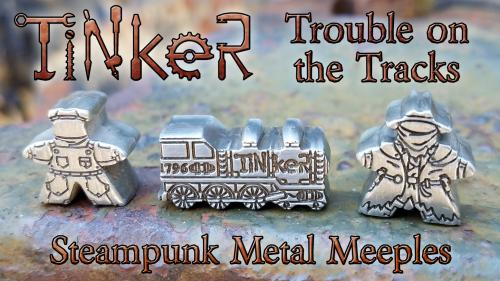 Tinker Bits IV: Train Engine Metal Meeples