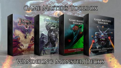 Wandering Monster Decks for 5E and Pathfinder! Only $12!
