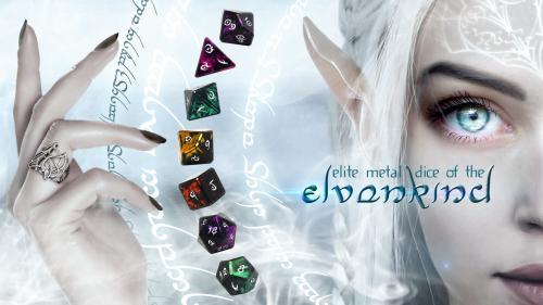Elite Metal Dice of the Elvenkind - 7 and 11 Piece Sets