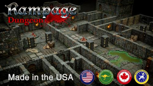 Rampage Dungeon - Seamless Interlocking Dungeon Tiles