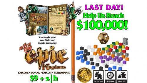 Ultra-Tiny Epic Kingdoms, Board Game in a Card Box