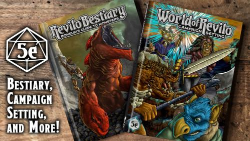 World of Revilo Campaign Setting & Bestiary for 5E DND.
