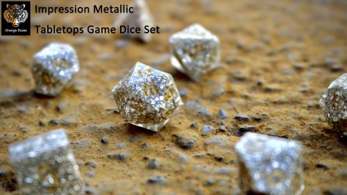 Designed-from-impression Metallic Tabletops Game Dice Set