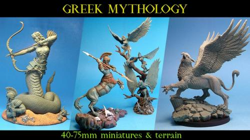 Greek Mythology: 40-75mm Miniatures & Terrain