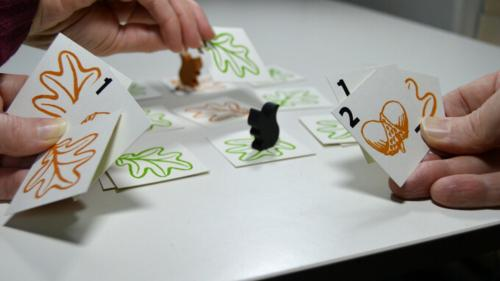Squirrel - a pocket tabletop game for 2 foragers.