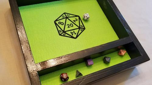 Bespoke Dice Rolling Trays by EmbroiderWood