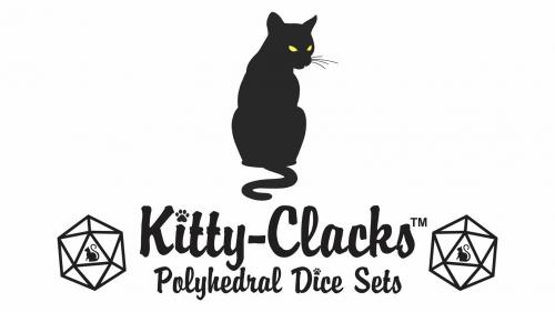 Kitty-Clacks Cat Themed Polyhedral Dice Sets