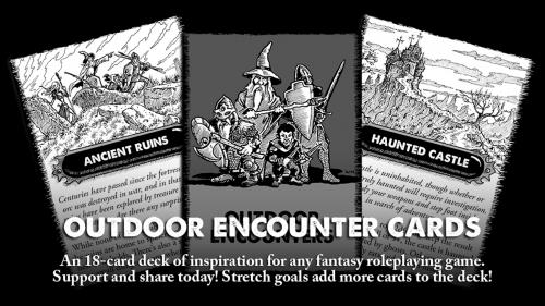 Outdoor Encounter Cards - For use with many tabletop RPGs.