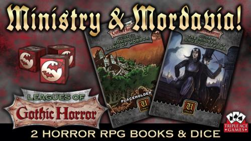 Leagues of Gothic Horror: Ministry & Mordavia books and Dice