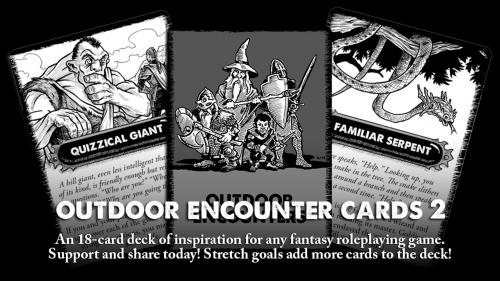 Outdoor Encounter Cards 2 - For use with many tabletop RPGs.