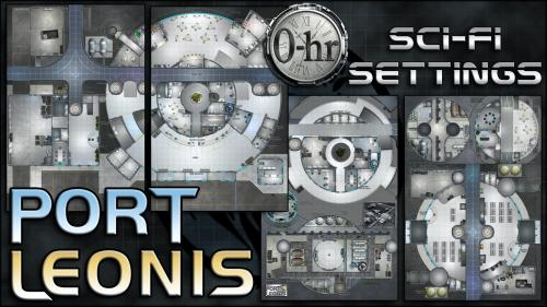 Port Leonis: sci-fi miniature-scale map