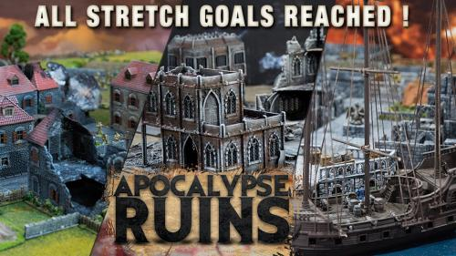 APOCALYPSE RUINS - Modular gaming ruins for Wargames and RPG