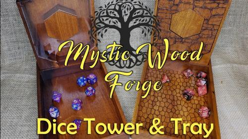 Mystic Wood Forge Dice Tower With Dice Vault Storage